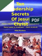 Leadership of Jesus Christ