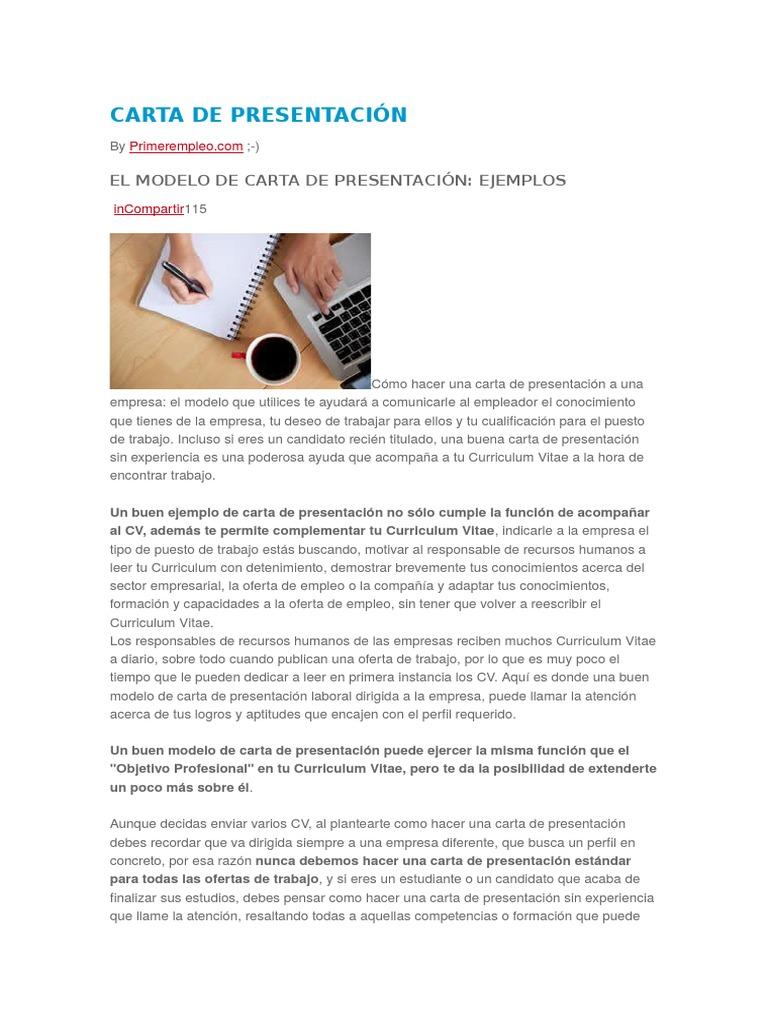 Asombroso Ejemplos De Cartas De Trabajo Imágenes - Ejemplo De ...