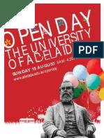 University of Adelaide Open Day 2010 Full Program