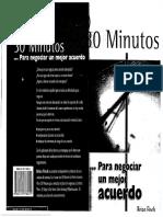 30 Minutos Para Negociar Un Mejor Acuerdo