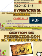 Clase 12 Gestion Proyectos Pmi 2016 i