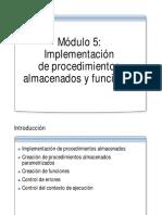 05_Implementación de Procedimientos Almacenados y Funciones