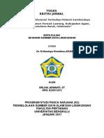 Critical Review Jurnal Ekowisata Puncak Lawang Park (PLP), Kab. Agam, Sumbar