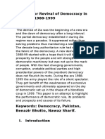 Decades or Revival of Democracy in Pakistan 1988-1998
