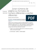 Adicionar Números de Página Ou Formatos de Número Diferentes a Seções Diferentes - Word