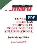 CONSTRUIR DESDE LAS REGIONES, EL PODER POPULAR Y PLURINACIONAL