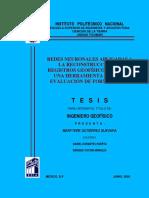 Redes Neuronales Aplicadas a La Reconstrucción de Registros Geofísicos de Pozo, Una Herramienta Para La Evaluación de Formaciones