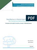 160615 Eindrapport Goed Bestuur in Vlaamse Sportfederaties