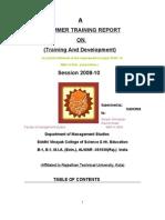 Training &Development