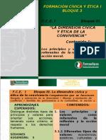 FC y E I Bloque 3 La Dimensión Cívica y Ética de La Convivencia Contenido 1