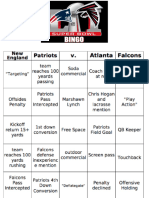 Super Bowl LI Bingo Cards (2017)