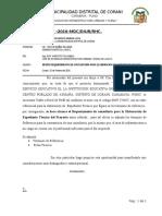INFORME N°025 REQUERIMIENTO DE CONSULTORIA PARA ELABORACION DE EXPEDIENTE TECNICO