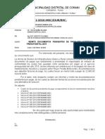 INFORME N°021 REMITO DOCUMENTACION PENDIETE POR PAGAR