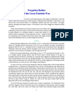 Mil Hist - WWII Forgotton Battles