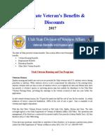 Vet State Benefits & Discounts - UT 2017