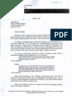 Al Zielinski Grafton Assessor - Letter from SA that he destroyed.