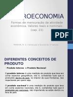 Formas de Mensuração Da Atividade Econômica. Valores Reais e Nominais.