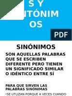 Definiciones Sinonimos y Antonimos