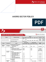 Tasas Ahorro Sector Publico