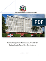 Normativa Para La Formacion de Docente de Calidad en La Rep Dom Dic 19-2015