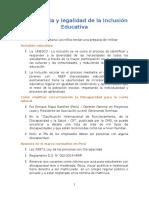 Importancia y Legalidad de La Inclusión Educativa