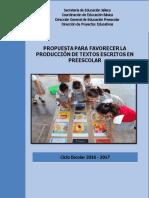 Propuesta Para Favorecer La Producción de Escritos en Preescolar (Correcciones Ok)
