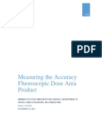 measuring the accuracy of fluoroscopic dose area product