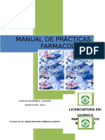 MANUAL de PRACTICAS FARMACOLOGIA Modificacion Al Coeficiente de Reparto