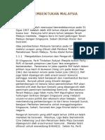 Sejarah Pembentukan Malaysia