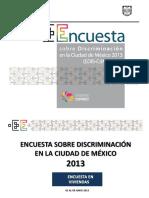 Encuesta Sobre Discriminacion en CDMX
