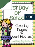 firstdayofschoolcertificatesandcoloringworksheets