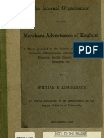 (1903) The Internal Organization of Merchant Adventurers of England