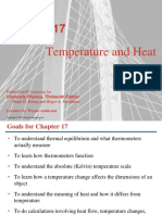 Temperature, Heat and Thermodynamics.