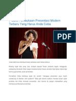 7 Cara Pembukaan Presentasi Modern Terbaru