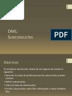 7. DML - Subconsultas
