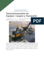 Formulas Para Carguio y Transporte Superficial