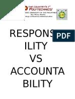 Responsibility vs Accountability