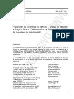 NCh1914-1-1984 Prevención de incendios en edificios - ensayo de reacción al fuego - parte 1  determinación de la no combustibilidad de materiales de construcción.pdf