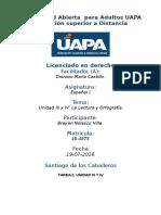 Tarea 2 Unidad III y IV Español I 15-07-2016