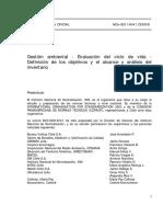 NCh-ISO 14041-2000 Gestión ambiental - evaluación del ciclo de vida - definición de los objetivos y el alcance y análisis del inventario.pdf