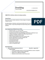 alex dowlding internship resume