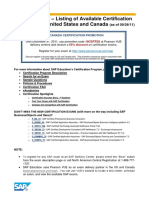 SAP List of Certification Exams