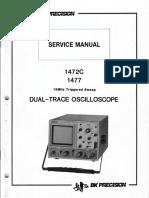 Bk-precision 1472c 1477 10mv 15mhz Oscilloscope Full Sm
