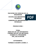 Análisis de Las Diferentes Curvas Ipr de Los Métodos Usando El Programa Ipr_calculation
