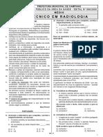 Ibfc 2010 Prefeitura de Campinas Sp Tecnico Em Radiologia Prova