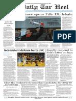 The Daily Tar Heel for Feb. 1, 2017