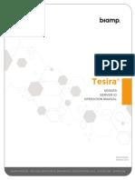 Manual Tesira Server and Io 585 0278 90c