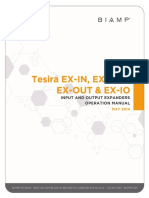 Tesira Ex-In Ex-Aec Ex-out Ex-io Manual May14-1
