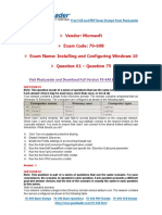 70-698 Exam Dumps With PDF and VCE Download (61-75)