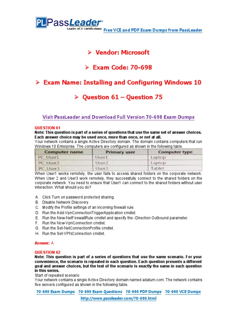 Exam Collection To Pass Your Exam 70-410 Passing-Score